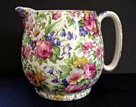 Art Deco pottery image - ART DECO POTTERY ROYAL WINTON CHINTZ JUG, GLOBE SHAPE WITH SUMMERTIME PATTERN C.1932-35