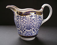 antique pottery image - FIRST PERIOD WORCESTER PORCELAIN BLUE AND WHITE CREAM JUG ROYAL LILY PATTERN BFS I.F.8 C.1775