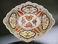 FINE ENGLISH PORCELAIN DISH, THE FIRST DERBY JAPAN PATTERN, KYLIN PATTERN NO.4 C.1810-15