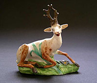 DERBY ENGLISH PORCELAIN 'N' PATTERN NUMBER ANIMAL FIGURE THE STAG C.1790-1810