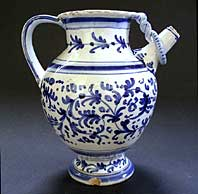 RARE DUTCH DELFT BLUE AND WHITE MAIOLICA SYRUP JAR (WET DRUG JAR) C.1675