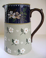 LOVATT LANGLEY MILL STONEWARE, ART NOUVEAU PERIOD C.1905-10, ART POTTERY JUG PRINCESS WARE  PATTERN right